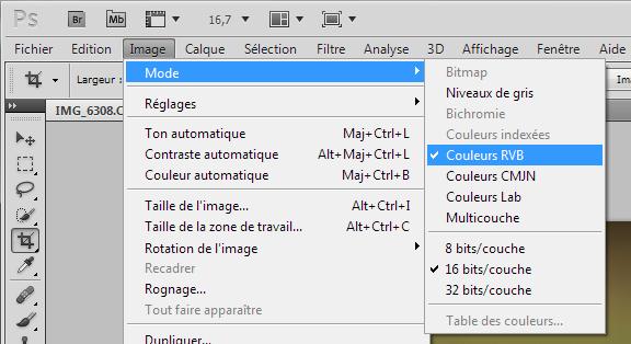Format de fichier avec Adobe Photoshop