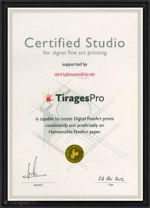 TiragesPro obtient la certification Hahnemuehle Certified Studio - TiragesPro obtient la certification Hahnemuehle Certified Studio - BLOG