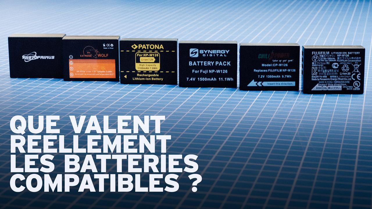 Comparatif Des Batteries Compatibles Fuji Np W126 W126s Battery