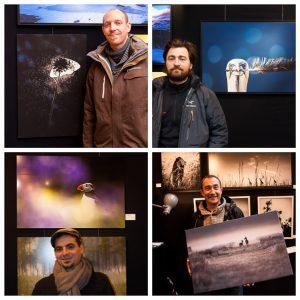 Certains des lauréats de l'édition de 2013. De gauche à droite et de haut en bas, Thomas Delahaye, Nicolas Orillard Demaire, David Guigue et David Potron.